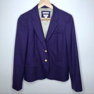 J. Crew Schoolboy Blazer Jacket Purple Wool 6